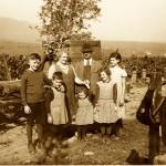 Eltern Siener mit links Fritz, Herrmann, Lucia, Anneliese und Hedwig (30er Jahre)