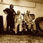 1995 erste gemeinsame Weinlese Martin, Fritz und Herrmann Siener